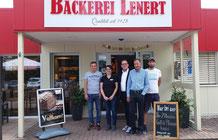 International renommierte Schweizer Bäckerei-Fachschule Richemont besucht die Bäckerei Lenert in Blieskastel.
