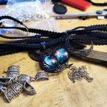 Handmade with Love, Christmas Stocking im Gothic Design mit Fledermaus Clip