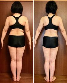 50代主婦 美ボディ痩身 12回コース 体験結果 後ろ