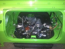 Der Motor ist drinn, es sind noch die Kabeln zum anschließen und alle anbauteile zu montieren.
