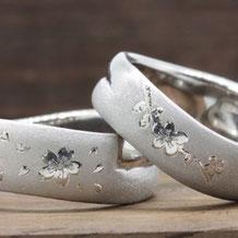 サンクイル岐阜の先輩カップルのオーダーメイドリング・結婚指輪の事例