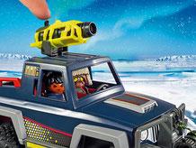 Die Besonderheiten im Playmobil Paket 9059 sind eine funktionierende Seilwinde und eine schwenkbarer Riesenkanone.