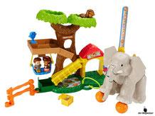 Die Besonderheit beim Fisher-Price Little People Maxi-Tierwelt Zoo sind die bewegliche Teile für die Förderung der feinmotorischer Fähigkeiten des Kindes.