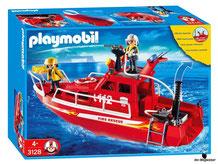 """Bei der Bestellung im Onlineshop der-Wegweiser erhalten Sie das Playmobil Paket 3128 """"Feuerwehrboot mit Pumpe""""."""
