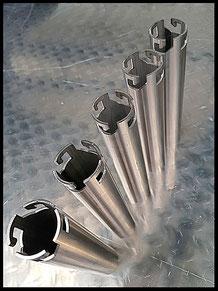 Lasergesneden montagebuis, met bajonet sluiting.