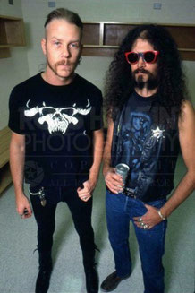 James Hetfield (mit DANZIG-Shirt) und Jim Martin