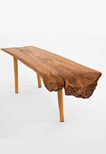 Bench · B0029 · Oak#bench#stool#console#sculpture##woodworking#interiordesign#woodsculptures#art#woodart#wooddesign#decorativewood#originalartwork#modernwoodsculpture#joergpietschmann#oldwood