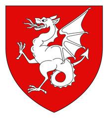 Le blason de Draguignan (dans le Var)