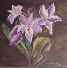 Lilien 40 x 40 cm Leinwand