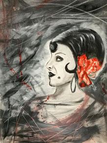 Greta, 80 x 60 cm Leinwand