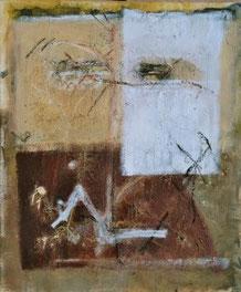 ERDSANDMASKE, Acryl auf Leinwand, 100 x 120 cm, 2004