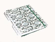 Skizenbuch Din A6 Wire-O Bindung Blumen blau grün