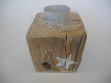 Teelichthalter aus Treibholz
