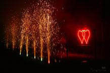 Barockfeuerwerk, Feuerwerk für Geburtstag, Hochzeit, Firmenfeier, Lichterbild, bengalisches Feuer