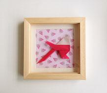 Cadre origami Mésange - Format 14x14cm - 25€