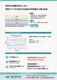 廉価型不溶性電極 アノデック100RE