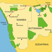 Botswana Lodgesafari von Namibia bis zu den Viktoriafällen