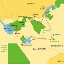 Zimbabwe und Botswana Lodgesafari