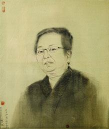 松针和服 MIYAKE KAZUHIKO 60X50CM 绢本水墨 INK ON SILK 2016 (收藏于日本 COLLECTED IN JAPAN)