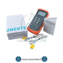 Dotazione standard termometro con sonde tipo K VLTMK6802B