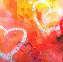 Engelbild gemalt von Jopie Bopp, Engel der Botschaft Gottes Leinwnadbild
