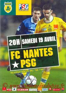 Affiche  Nantes-PSG  2002-03