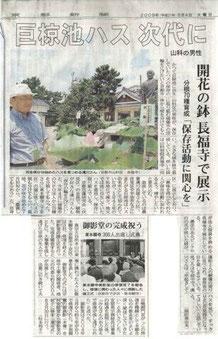 京都新聞 2009年8月4日