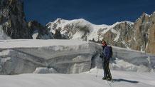 Nadine et le Mont-Blanc