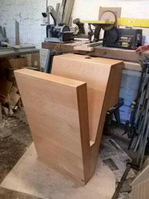 projet design,Lave main en bois de hêtre, finition huile. CCL ébéniste