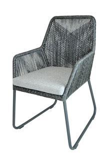 Gartenstuhl Holz Metallgestell grau