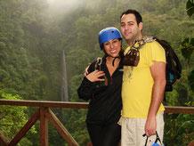 Canopy Mundo Aventura con vista a la Catarata Rio Fortuna