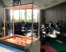 山口県立美術館での親子向けワークショップ