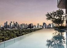 SO Sofitel in Bangkok mit in infinity  Pool und Skybar in nähr zu den Sehenswürdigkeiten.