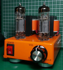 PCL82(16A8) DC-DC ミニワッター PCL82 Single-Ended Mini Watter Tube Amp 小型真空管ステレオシングルアンプ自作