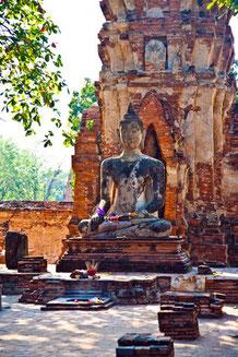 Der Wat Mahathat in Ayutthaya - Für Kultururlauber sehr interessant.