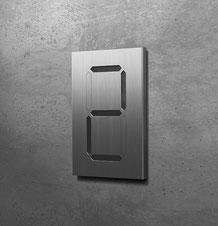 einstellige Segment-Hausnummern
