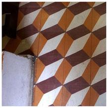 tiles on the floor of a Lisbon bakery