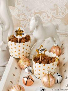 Muffin mit Grießbrei und Schokostreuseln