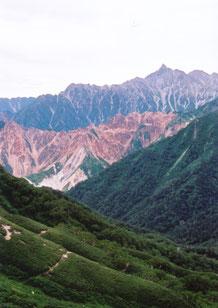 赤岳の上に (半切)