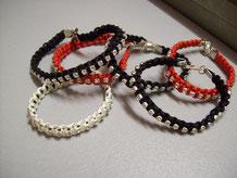 Bracelets shamballa avec chaîne strass