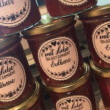 Freebie Etiketten für Marmeladegläser