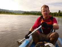 Canoe-raft en Mongolie