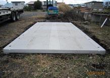 YCカーポート②床板ブロック敷設