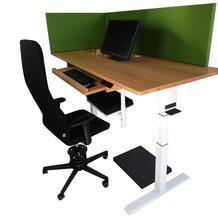 Schreibtisch Trennwand
