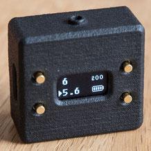 Der Belichtungsmesser V102 von Cameractive im Praxistest: Displayansicht bei Blendenvorwahl. Foto: bonnescape.de