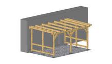 Holzüberdachung Terrasse