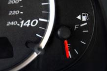 ガス欠の給油