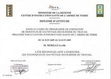 Diplome d'aptitude de moniteur de sauvetage secourisme du travail