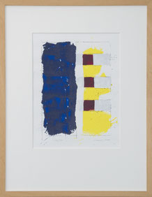 "Peter Lorenz ""140/300"" 50 x 65cm, Serigrafie, gerahmt. Preis 75.-€"
