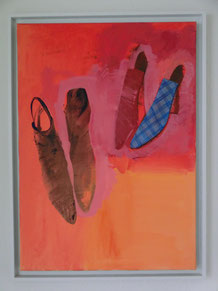 Roland Schauls, Paris 4. 1999, 50 x 69cm, Acryl auf Leinwand, gerahmt, signiert auf der Rückseite, Preis: 1500.-€